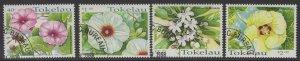 TOKELAU ISLANDS SG283/6 1998 TROPICAL FLOWERS FINE USED