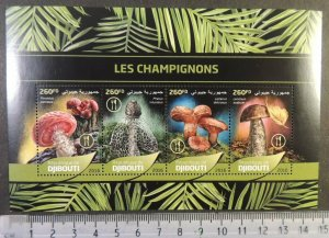Djibouti 2016 mushrooms fungi m/sheet mnh #2
