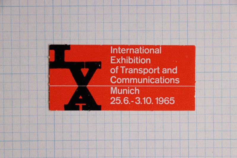 IVA 65 Intl World Exhibition Transport Communication Munich poster label ad MNH