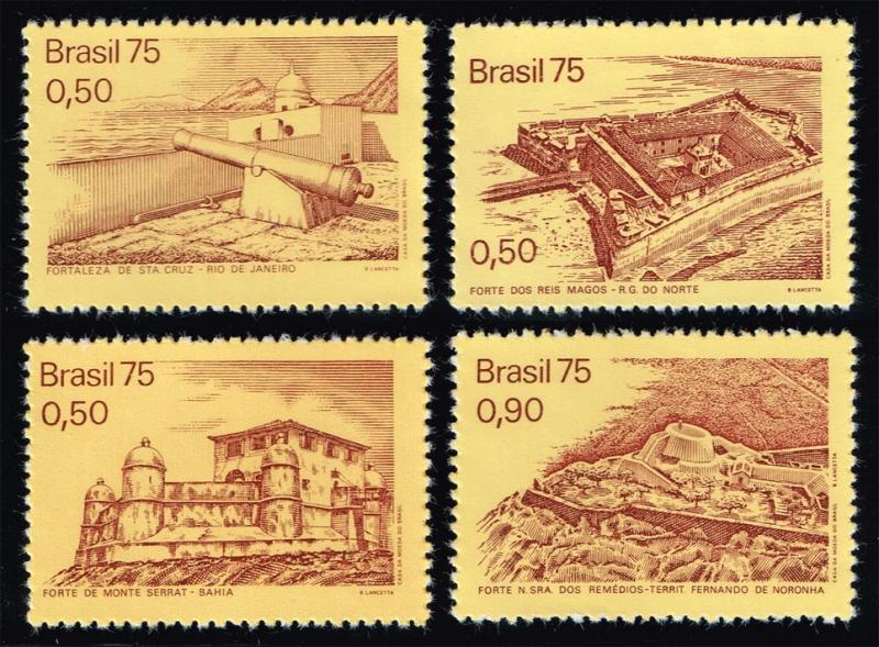 Brazil #1379-1382 Colonial Forts Set of 4; MNH (2.50)
