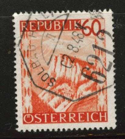 Austria Scott 508 Used stamp from 1947-48 set