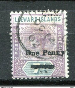 Leeward Islands 1902 Sc 19 One penny Used 11451