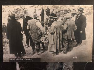 1914 Agua Prieta Sonora Mexico Mexican Revolution Leaders RPPC Postcard cover