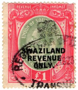 (I.B) Swaziland Revenue : Duty Stamp £1