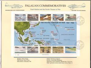 PALAU SC# 299 VF U 1991 1ST DAY P.C.