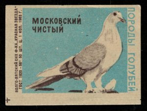 1963, Dove: Moscow clean, Matchbox Label Stamp (ST-211)
