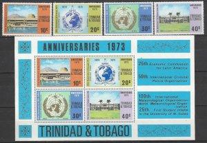 Trinidad & Tobago 231-4a  MNH   1973 Anniversaries