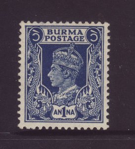 1946 Burma 1 Anna Mounted Mint SG54