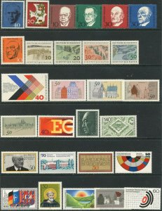 GERMANY Sc#821//2024 1960-1996 34 Different Complete Sets & 1 S/S OG Mint NH