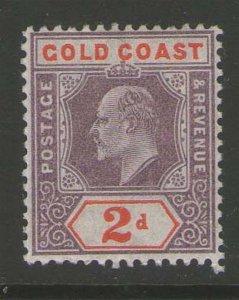 Gold Coast 1902 KEVII 2sh Sc 40 MH