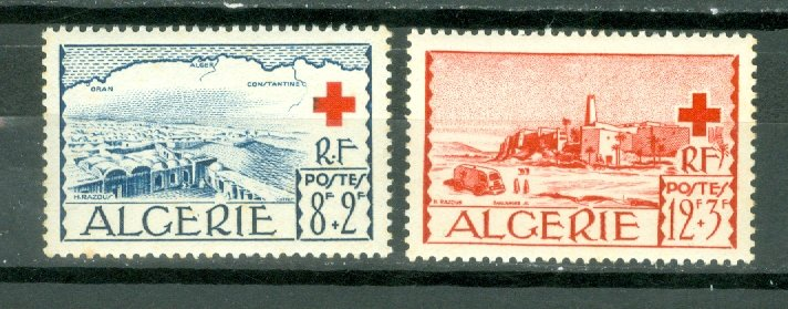 ALGERIA RED CROSS #B67-68...SET...MNH...$9.75