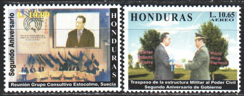 Honduras. 2000. 1509-10. The Inauguration of President Flores. MNH.