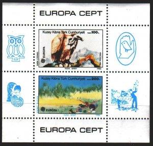 Turkish Cyprus. 1986. bl 5. Vulture, fauna, europe-sept. MNH.