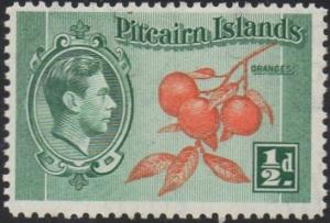 Pitcairn Islands 1940 ½d Oranges MH