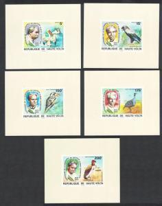 Upper Volta Stork Kingfisher Birds Dr Albert Schweitzer 5 De-Luxes SC#C215