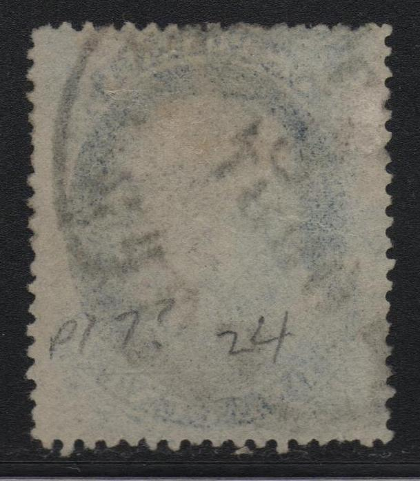 US Scott #24 Type V F Relief From 10th Row Plate 10 With CERT