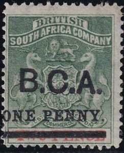 British Central Africa 1895 SC 20 MLH