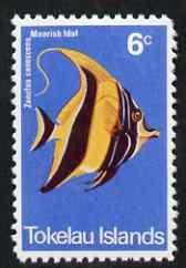 Tokelau 1975 Moorish idol Fish 6c (instead of 5c) modern ...