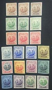 MOMEN: BARBADOS SG #181-191,199-200,200a 1916-20 MINT OG H £500++ LOT #60660
