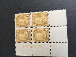 Canada USC #168 Mint 4c Yellow Bistre Plate 2 LL Minor Creasing In Left Selv Se;