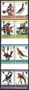 Montserrat. 1985. 597-604. Birds, fauna. MNH.