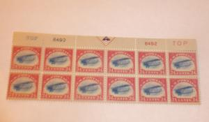 c-3 24 cent plate block of 10