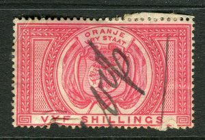 ORANGE FREE STATE; Early 1890s fine Revenue issue used 5s.