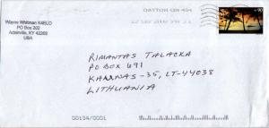 Airmail Issues 90c Hagatna Bay Guam 2009 Dayton, OH 454 Airmail to Kaunas, L...