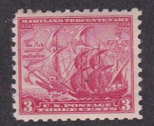 United States # 736, Ships, The Ark & The Dove, NH, 1/2 Cat.