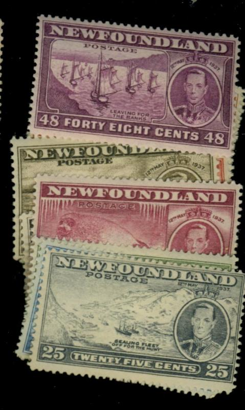 Newfoundland #233-43 MINT F-VF OG HR Cat$33.25