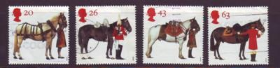 Great Britain Sc 1763-6 1997 Queen's Horses stamps used