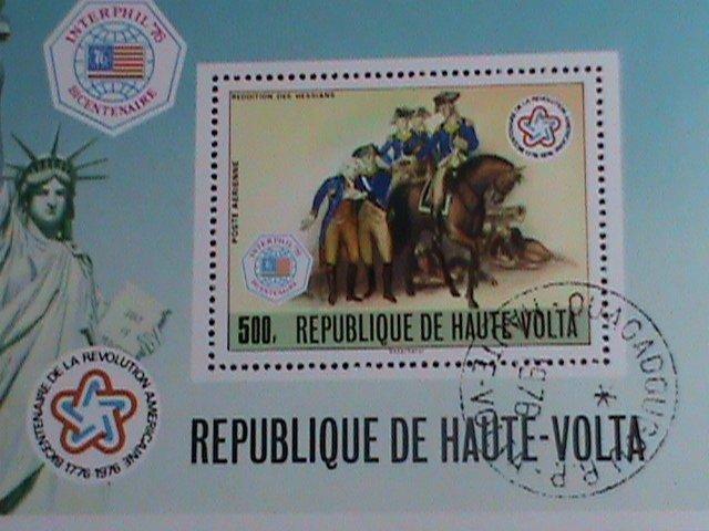 Upper Volta Stamp-1976 Interphil'76-Bicentenary  American Revolution  CTO MNH