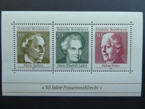 German 1969 Souvenir Sheet  Sc 1007  MNH