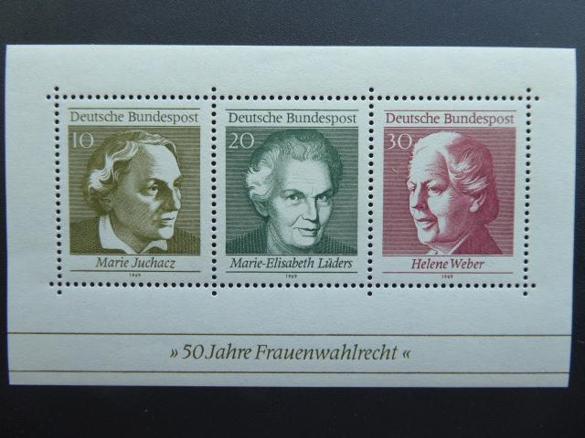 German 1969 Souvenir Sheet  Sc 1007  MNH