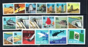 Rhodesia QEII 1970 Definitive MNH set #439-452 WS13132