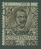 Italian Offices in Crete SC# 9 Overprinted LA CANEA 40c Used