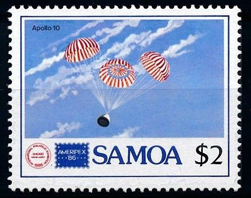 [65027] Samoa 1986 Space Travel Weltraum Apollo 10 From Set MNH