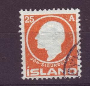 J19119 Jlstamps 1911 iceland used #91 sigurdsson