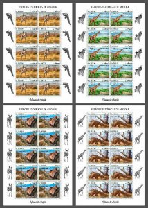 Z08 IMPERF ANG190204c Angola 2019 Endemic animals MNH ** Postfrisch