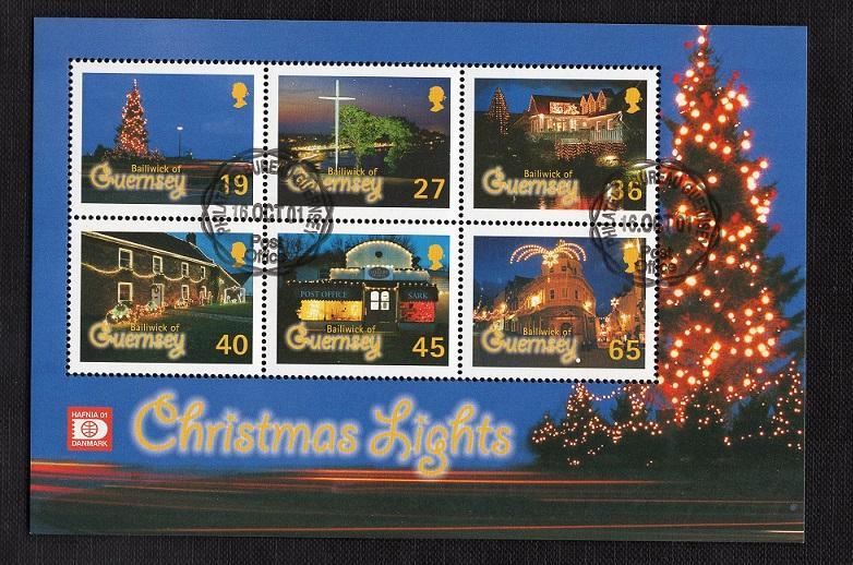 Guernsey   #755a   2001 cancelled   sheet Christmas   Hafnia 01