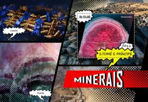 SAO TOME - 2019 - Minerals - Perf Souv Sheet - MNH