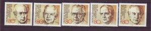 J24216 JLstamps 1982 germany set mnh #1384a-e presidents