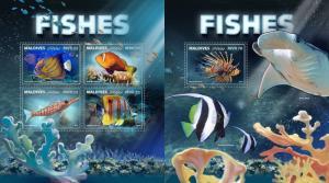 Z08 IMPERF MLD171006ab Maldives 2017 Fishes MNH ** Postfrisch