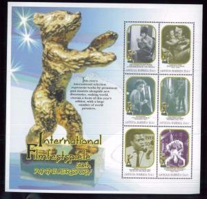 GOLDEN BEAR International Film Festival Souvenir Stamp Sheet #2340 Antigua E46