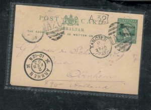 MOROCCO COVER (PP2912B)  QV 5C PSC TANGER NO MSG ANTIQUE OVER 100 YEARS OLD