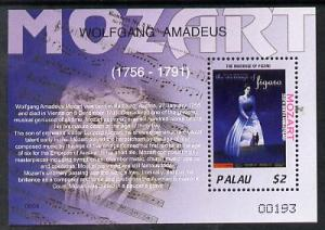 Palau 2006 250th Birth Anniversary of Mozart perf m/sheet...