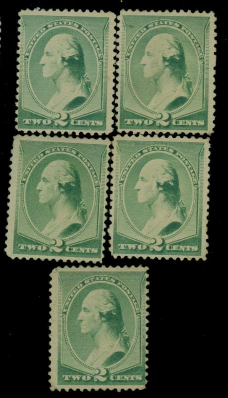 213 (5) MINT F-VF No gum CAt$75