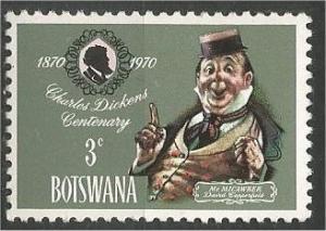 BOTSWANA, 1970, MNH 3c, Charles Dickens Scott 62