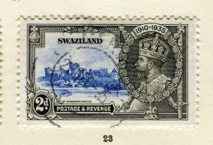 SWAZILAND; 1935 early GV Jubilee issue fine used 2d. value