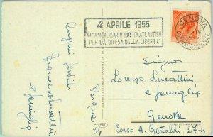 86668 - ITALY - POSTAL HISTORY - Special postmark  1955  North Atlantic Treaty